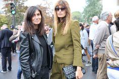 Emmanuelle Alt la rédactrice en chef de Vogue Paris et le top Caroline de Maigret http://www.vogue.fr/defiles/street-looks/diaporama/street-looks-a-la-fashion-week-printemps-ete-2014-de-paris-jour-5/15473/image/859424#!emmanuelle-alt-la-redactrice-en-chef-de-vogue-paris-et-le-top-caroline-de-maigret