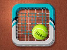 Tennis Icon by mip Jan 24, 2013 | @2x cvia dribbble 909381
