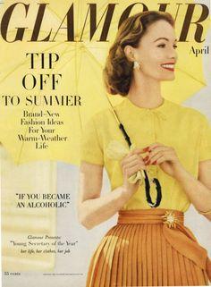 Glamour Magazine, April 1956.  [Tiny waist]