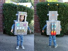 Planning a Robot Party? This list of must have robot birthday party ideas is your go to resource to make sure you cover all the essentials. Robot Halloween Costume, Robot Costumes, Halloween Birthday, Diy Costumes, Halloween Diy, 3rd Birthday, Homemade Robot, Bunting Template, Diy Robot