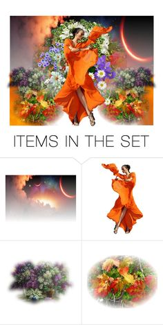 """""""Orange Doll"""" by georgine-d ❤ liked on Polyvore featuring art"""