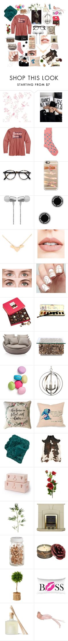 """""""Becoming Friends"""" by meisnatalia ❤ liked on Polyvore featuring Rowdy Gentleman, Casetify, Cynthia Rowley, Marc Jacobs, Jouer, Clarins, Harry London, Two's Company, Disney and Pier 1 Imports"""