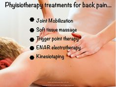 Physiotherapy Treatments for Back Pain #massage