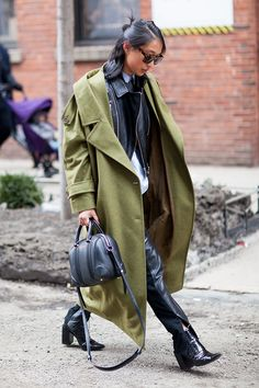 Take a tip from #NYFW and beat the cold in a doubled-up coat