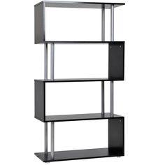 Room Divider Bookcase, Bookcase Storage, Large Shelves, Display Shelves, Wood Dust, Grey Wash, Particle Board, Adjustable Shelving, Cabinet Doors