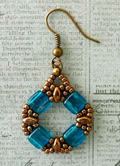 Linda's Crafty Inspirations: Coin Earrings Variations with SuperDuo Beads