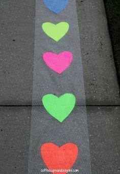 Valentine Hop and Pop Gross Motor Activity for Kids!
