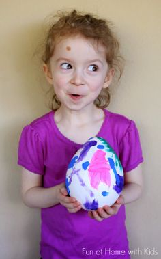 DIY Giant Plaster Easter Eggs from Fun at Home with Kids