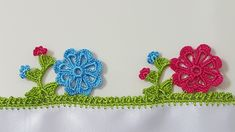 Crochet Edging Patterns, Crochet Borders, Saree Kuchu Designs, Kare Kare, Russian Crochet, Creative Embroidery, Crochet Clothes, Diy And Crafts, Crochet Earrings