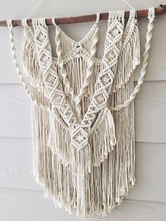 Wild at Heart Medium macrame wall hanging by WovenWhale on Etsy Macrame Design, Macrame Art, Macrame Projects, Macrame Knots, Diy Projects, Macrame Wall Hanging Patterns, Macrame Patterns, Modern Macrame, Macrame Curtain