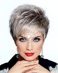 Best Short Haircuts, Haircuts With Bangs, Cute Hairstyles For Short Hair, Pixie Hairstyles, Pixie Haircut, Short Hair Styles, Short Hair Older Women, Hair Styles For Women Over 50, Short Grey Hair