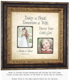 Wedding Gifts For Parents Bride Groom TODAY by PhotoFrameOriginals