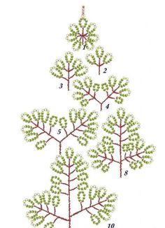 Картинки по запросу деревья из бисера для начинающих