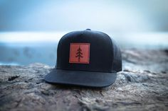 Mountain and Isles 5 Panel Patch Hat