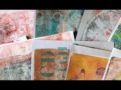 Making backgrounds on my Gelli plate - YouTube