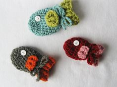 CROCHET PATTERN Baby Fish Mittens 3 sizes by YarnBlossomBoutique, $4.99
