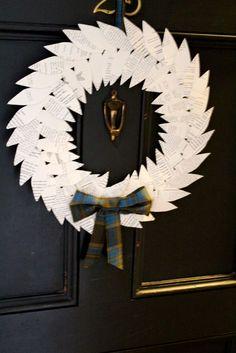 DIY book paper wreath!
