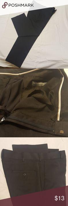 Mens Perry Ellis dress pants 34w 30l regular fit 100% polyester dark blue/gray pants Perry Ellis Pants Dress