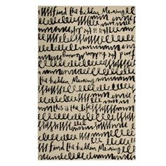 Our Guide to Stylishly Decorating Any Office Space: @katespadeny find the hidden meaning rug -- an exquisitely made, hand-tufted rug is a love letter to a space written in charcoal and off-white. a blend of wool and art silk make for a soft hand and lustrous finish.   coveteur.com
