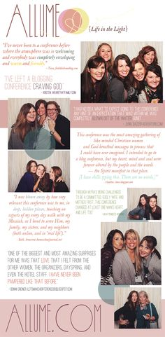 The Allume Social Media Conference - October 25-27, Harrisburg, PA- Love this! And there's me makin' a funny face with my girlfriends! :)