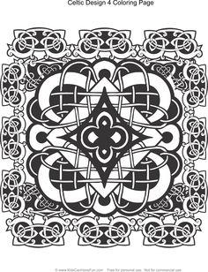 Celtic Design 4 Coloring Page Kidscanhavefun