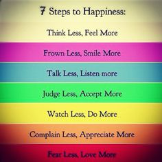 7 steps makes increase happy