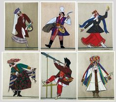 Zofia Stryjeńska, Stroje Polskie (Polish Peasants' Costumes) |1939, gouache.