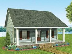 Cozy 2 Bed Cottage House Plan - 2596DH | Cottage, Country, Vacation, Narrow Lot, 1st Floor Master Suite, PDF | Architectural Designs
