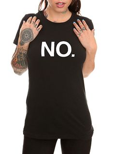 No. Verbiage Girls T-Shirt   Hot Topic
