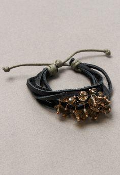 Chateau Belle Beaded Leather Bracelet
