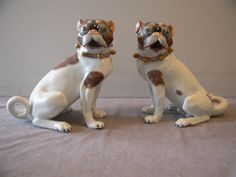 Pair of Carl Theime Dresden Pug Dogs via Etsy
