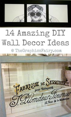 14 Amazing DIY Wall Decor Ideas with Vintage Graphics!