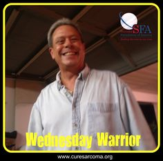 """""""His spirit and smile will live with me and my family forever."""" - Karen, wife of Marco, today's Sarcoma Foundation of America Wednesday Warrior:  http://curesarcomablog.org/2014/08/06/wednesday-warrior-marco/.  #sarcoma #inspiration #WednesdayWarrior #CureSarcoma"""