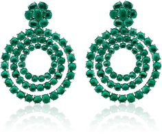 The Heritage Collection by Muzo 18K White Gold and Muzo Emerald Earrin