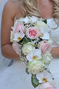 Romantisch druppelvorm bruidsboeket