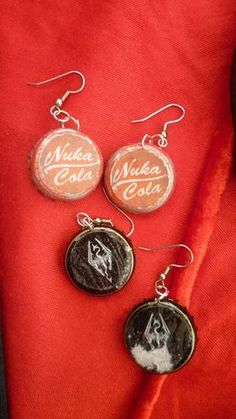 Nuka Cola and Imperial earrings.