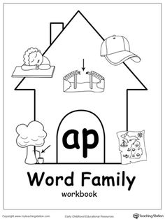 Use our AP Word Family Workbook to help your child develop a wide range of skills including phonics, reading, writing, drawing, coloring, thinking skills, sorting, and more. The AP Word Family Workbook includes several engaging printable worksheets.
