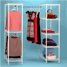 Could even use this IN a closet !  free standing closet...this is smart!