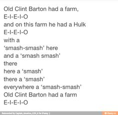 """Clint Barton Age of Ultron. Is this the Avengers fandom on hiatus? 