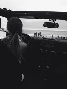 drives to the beach.