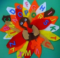 ABC Thanksgiving Turkey Craft