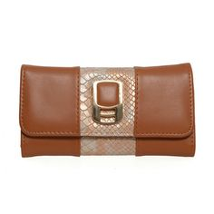 Brown - Snakeskin  Purse via Bellíssima. Click on the image to see more!
