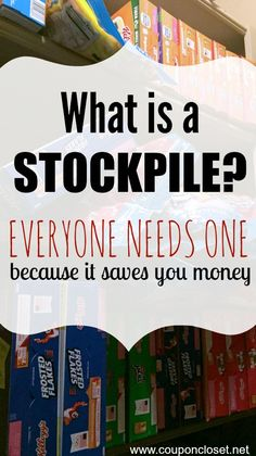 Couponing 101: What is a stockpile and Why you need one! Here are some helpful tips to creating the perfect stockpile to save you money on your grocery bills.