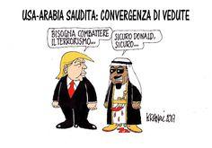 #DonaldTrump, il piazzista d'#Arabia... #Usa #ArabiaSaudita #Trump