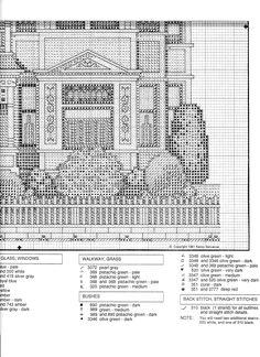 Schema punto croce Linden Hall 07
