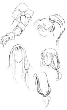 How to Draw Manga hair-- Manga University How to Draw: Tutorials