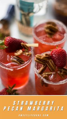 Today I want to share with a special Texas-themed margarita that is the perfect addition to your Cinco de Mayo festivities. This margarita starts with a pecan simple syrup. Texas pecans simmered in water and brown sugar to extract all their goodness. What you end up is a rich, earthy syrup that pairs perfectly with fresh strawberry juice. Texas Pecans, Strawberry Juice, Simple Syrup, Sweet Life, Margarita, Brown Sugar, Earthy, Cinco De Mayo, Dolce Vita