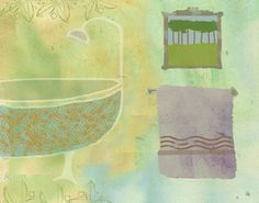 Bathtub 2 Painting Print on Wrapped Canvas