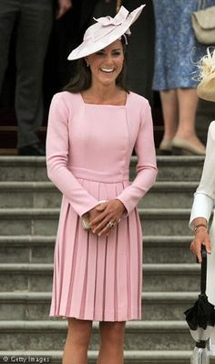 Catherine wore the dress twice back in May. The first time was at Buckingham Palace, for the Queen's Jubilee Lunch. The second time was at a Palace Garden Party.