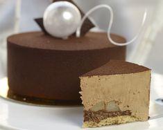 Tort cynamonowy z karmelizowanymi gruszkami Nutella, Oreo, Pudding, Chocolate, Sweet, Desserts, Food, Cakes, Place Card Holders